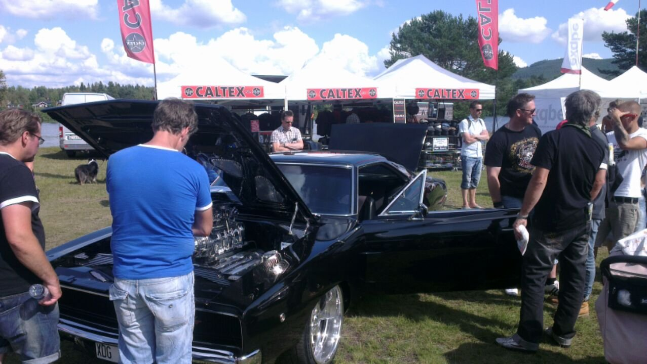 Picture from Wheels nationals in Älvdalen where Johan was attending with the Black Charger.